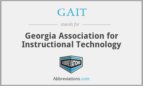 GAIT - Georgia Association for Instructional Technology