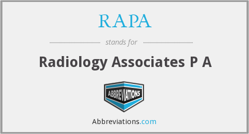 What does RA PA stand for?