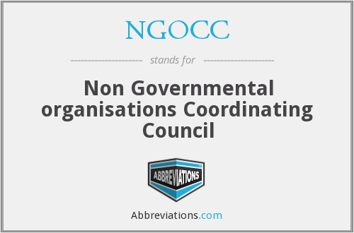 What does NGOCC stand for?