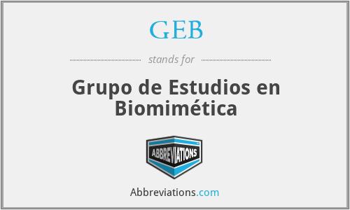 GEB - Grupo de Estudios en Biomimética