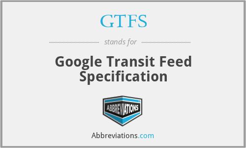 GTFS - Google Transit Feed Specification