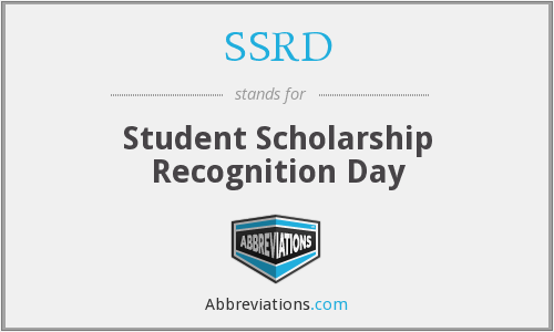 What does SSRD stand for?