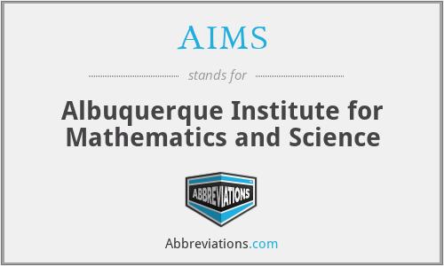 AIMS - Albuquerque Institute for Mathematics and Science