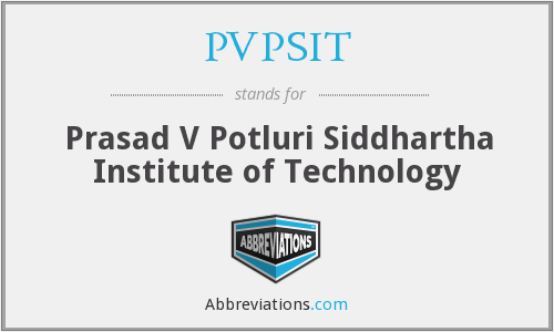 What does PVPSIT stand for?