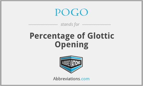 POGO - Percentage of Glottic Opening
