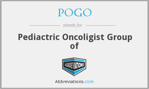 POGO - Pediactric Oncoligist Group of