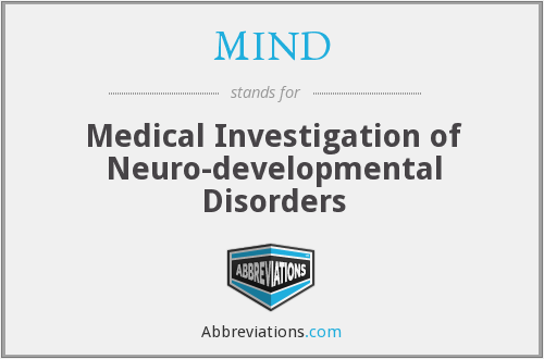 MIND - Medical Investigation of Neuro-developmental Disorders