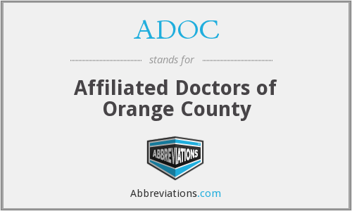 What does ADOC stand for?