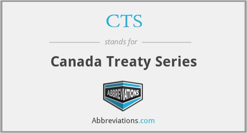 CTS - Canada Treaty Series