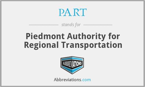 PART - Piedmont Authority for Regional Transportation