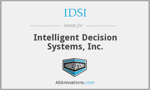 IDSI - Intelligent Decision Systems, Inc.