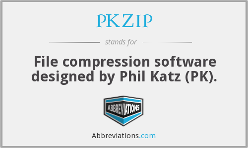 What does PKZIP stand for?