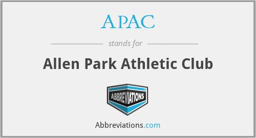 APAC - Allen Park Athletic Club