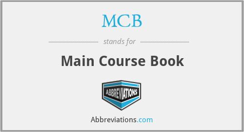 MCB - Main Course Book