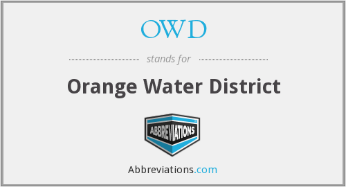 OWD - Orange Water District