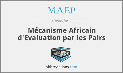 MAEP - Mécanisme Africain d'Evaluation par les Pairs