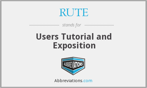 What does RUTE stand for?