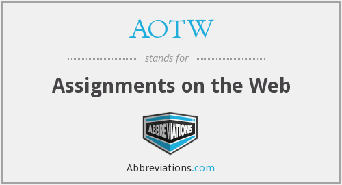 AOTW - Assignments on the Web