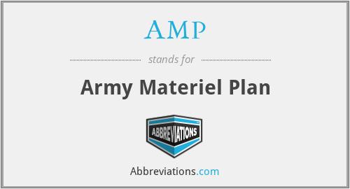 AMP - Army Materiel Plan