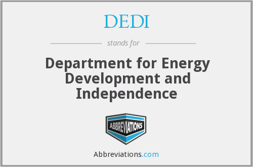 DEDI - Department for Energy Development and Independence