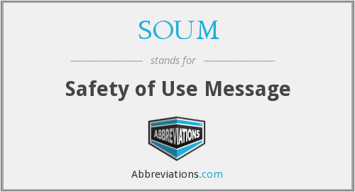 What does SOUM stand for?