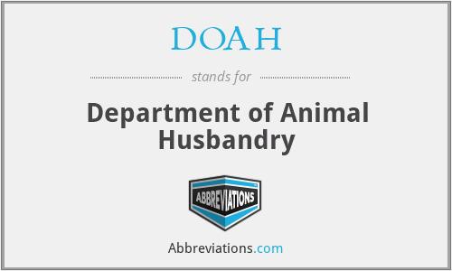 DOAH - Department of Animal Husbandry