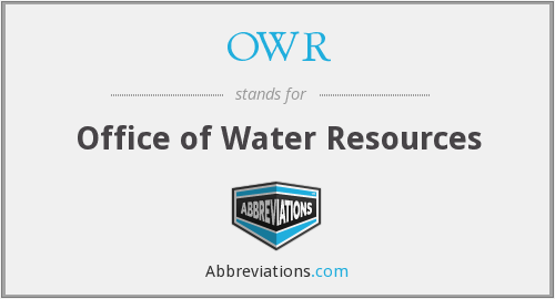 What does OWR stand for?