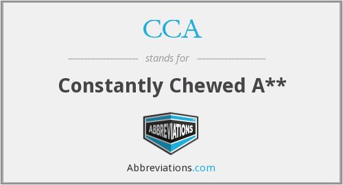 What does CCA stand for? — Page #5