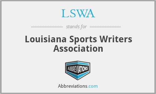 LSWA - Louisiana Sports Writers Association