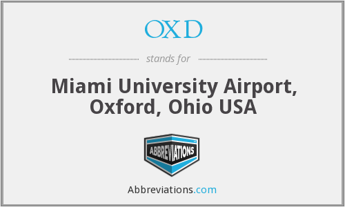 OXD - Miami University Airport, Oxford, Ohio USA