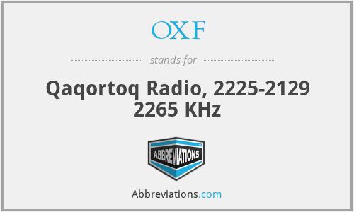 OXF - Qaqortoq Radio, 2225-2129 2265 KHz
