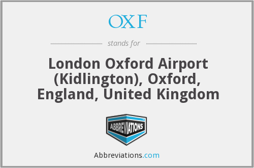 OXF - London Oxford Airport (Kidlington), Oxford, England, United Kingdom
