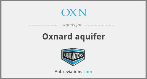 OXN - Oxnard aquifer