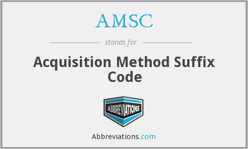 AMSC - Acquisition Method Suffix Code
