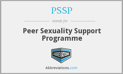 PSSP - Peer Sexuality Support Programme