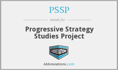PSSP - Progressive Strategy Studies Project