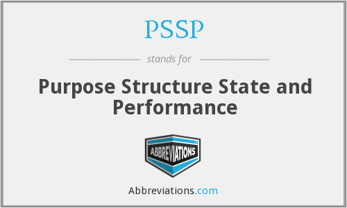 PSSP - Purpose Structure State and Performance