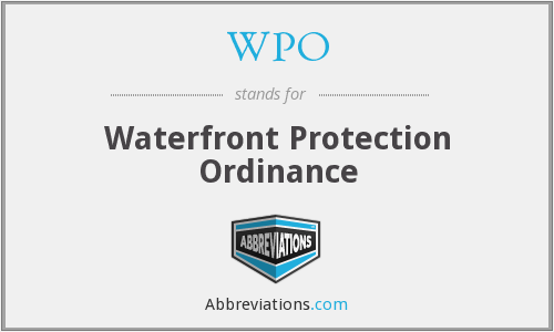 WPO - Waterfront Protection Ordinance