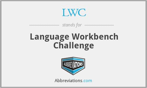 LWC - Language Workbench Challenge
