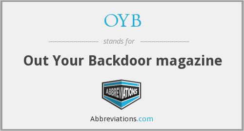 OYB - Out Your Backdoor magazine
