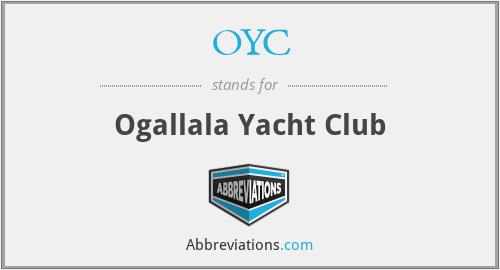 OYC - Ogallala Yacht Club
