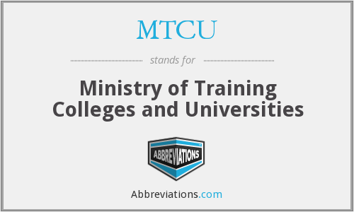 What does MTCU stand for?