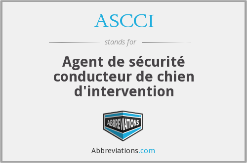 What does ASCCI stand for?
