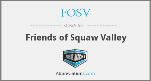 FOSV - Friends of Squaw Valley