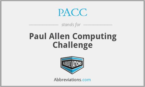 PACC - Paul Allen Computing Challenge