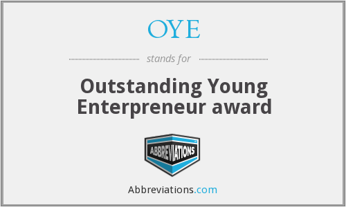 OYE - Outstanding Young Enterpreneur award