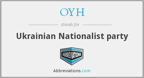OYH - Ukrainian Nationalist party