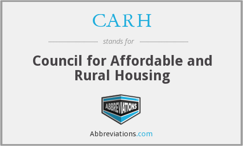CARH - Council for Affordable and Rural Housing