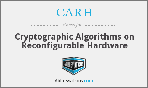 CARH - Cryptographic Algorithms on Reconfigurable Hardware
