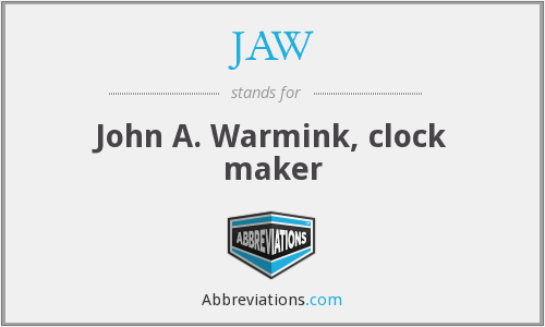 JAW - John A. Warmink, clock maker